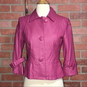 Shape FX Jackets & Coats - vintage pink genuine leather jacket